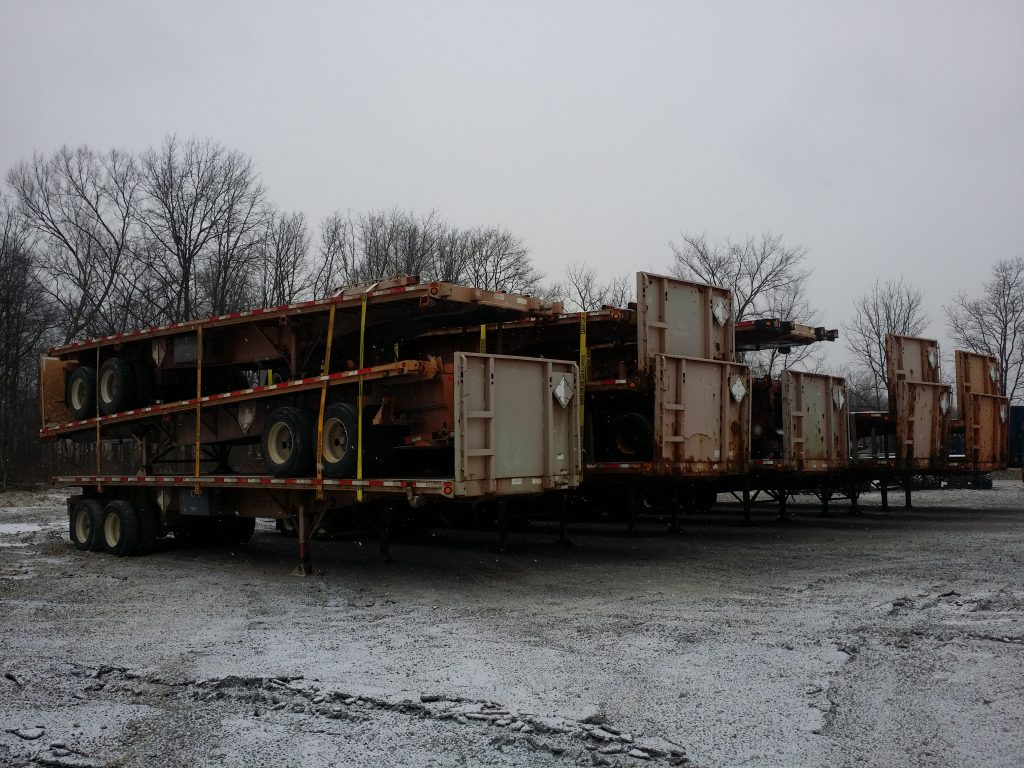 Used Princeton/Moffett Flatbed Forklift Trailers for sale