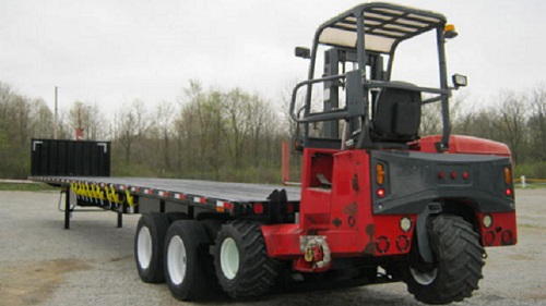 Forklift mounting can be added to a trailer or truck